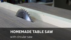 In this video I'll show you how to make a homemade table saw using a circular saw. For various woodworking projects I found that circular saw isn't enough fo. Table Saw Sled, Diy Table Saw, Make A Table, Circular Saw Table, Best Circular Saw, Cierra Circular, Homemade Tables, Skill Saw, Tool Bench
