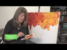 Técnicas de Pinceladas Decorativa - YouTube Acrylic Painting Tutorials, Painting Videos, Colorful Paintings, Abstract Flowers, Learn To Paint, Painting Techniques, Art Tutorials, Art Lessons, Flower Art