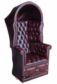 Oxblood Porter's Chair