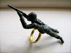 Little Toy Soldier Ring by PRODUKT on Etsy, $7.99