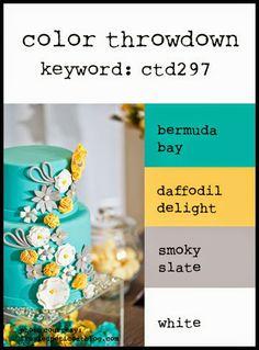CTD297 - Bermuda Bay, Daffodil Delight, Smoky Slate, White
