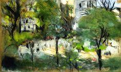 Edouard VUILLARD Berlioz Park also known as Place Vintimille c 1915-1916