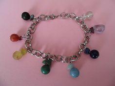 7 chakra bracelet with shungite