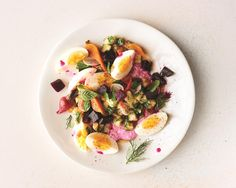 This psychedelic Mediterranean-inspired salad from chef Nick Korbee of Egg Shop in NYC, marries bright, fresh ingredients with sweet, earthy roasted beets and...