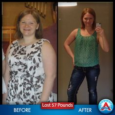 "Not only did Carly Zakrewski lose 57 pounds but... ""I weighed less than when I graduated from high school ten years before."" http://www.atkins.com/Program/Success-Stories/Carly-Zakrewski.aspx"