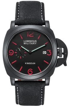 Find a watch with awesome crown protection and auto date. #Luminous #Men #chronograph #Black #Fashion #Luxury #Quartz