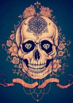 My sugar skull has diamonds tooooo