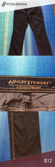 Plus size Jeans Dark Blue Ashley Stewart Straight Leg Jeans. Single Button 5 Pocket. Ashley Stewart Jeans Straight Leg