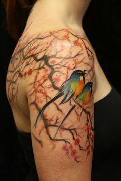 Tree+Tattoo+Pics+With+Bird   2010 Debut Bird And Tree Tattoo Picture   Last Sparrow Tattoo