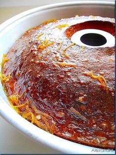 Κέικ με σιρόπι από πορτοκάλι Easy Sweets, Sweets Recipes, Cake Recipes, Cooking Recipes, Greek Sweets, Greek Desserts, Greek Recipes, Sweet Loaf Recipe, Greek Cooking