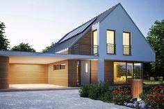 Nachhaltigkeit - Sustainbility Heat pumps to show off: Remko finds a new design language with ArtSty Atrium House, Facade House, Suburban House, Farmhouse Remodel, Exterior Design, Modern Farmhouse, Architecture Design, House Plans, New Homes