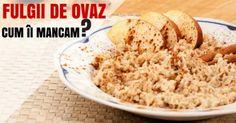 fulgii-de-ovaz Krispie Treats, Rice Krispies, Hummus, Cereal, Oatmeal, Grains, Breakfast, Ethnic Recipes, Desserts