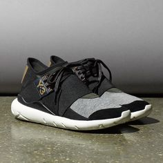 The iconic Y-3 Qasa in luxurious leather and technical neoprene for women, the Y-3 Qasa Elle Lace. Available in retail and online on y-3.com  #adidas #y3
