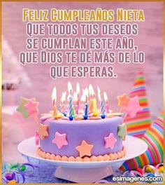 imágenes de feliz cumpleaños para nieta Happy Birthday, Birthday Cake, Wallpaper Quotes, Diana, Desserts, Cactus, Wallpapers, Baby, Happy Birthday Wishes Quotes