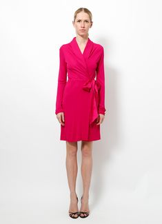 Saint Laurent | Fuchsia Wrap Dress | Order this item on RESEE.com |
