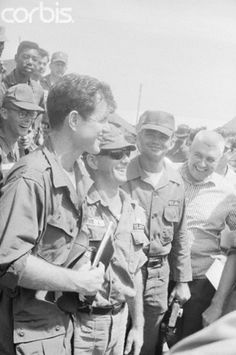 Ted in Vietnam with soldiers in 1965