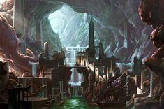 Underground City Warhammer Online, Chris Dien on ArtStation at… Fantasy City, Fantasy Places, Sci Fi Fantasy, Fantasy World, Minecraft Underground, Underground Cities, Dwarven City, Warhammer Online, Cave City