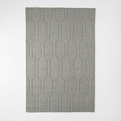 Honeycomb Textured Wool Rug - Plaster #westelm