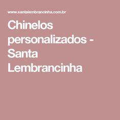 Chinelos personalizados - Santa Lembrancinha