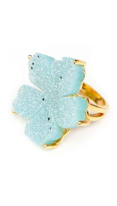 Gorgeous Blue Flower Ring.