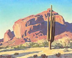 "Maynard Dixon (1875-1946)   ""Camelback Mountain"""