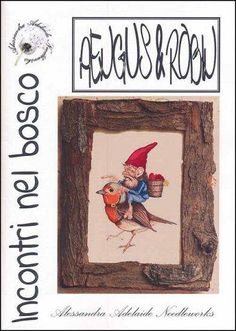 ALESSANDRA ADELAIDE Aengus & Robin counted cross stitch patterns at thecottageneedle.com mythical creatures gnomes magic fairies by thecottageneedle