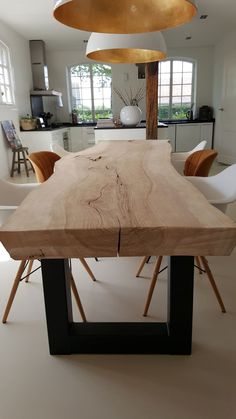 Contemporary dining room interior design rustic style table Source by max_chounlamany Room Interior Design, Dining Room Design, Dining Rooms, Kitchen Design, Wood Table Design, Bar Interior, Interior Concept, Nordic Interior, Table Designs