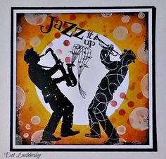 Visible Image stamps - Jazz It Up - Silhouette Sax & trumpet player stamps - Dot Leithbridge