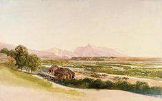 Akvarel :  Pribylina na Plave - Originál kresby je v galérii v Budapešti. - 1850