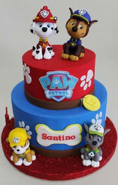 What a fantastic Paw Patrol Birthday cake!! See more party ideas and share yours at CatchMyParty.com