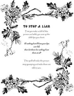 To Stop a Liar Wicca Book of Shadows Spell page on Parchment in Everything Else | eBay:
