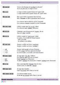 Un mémento pour distinguer les principaux homophones grammaticaux.