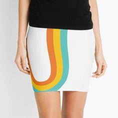 'Tiny rainbow' Mini Skirt by Cheap T Shirts, Knitted Fabric, Cheer Skirts, High Waisted Skirt, Cool Outfits, Pencil, Mini Skirts, Rainbow, Printed