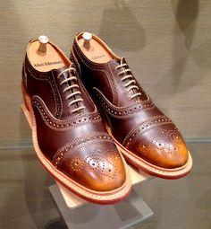Allen Edmonds Strandmok - Brown.  My favorite new business casual shoe.  Love the rugged British Daninite Sole.