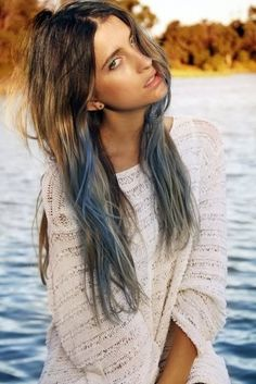 ash-blue-dip-dyed-hair-color