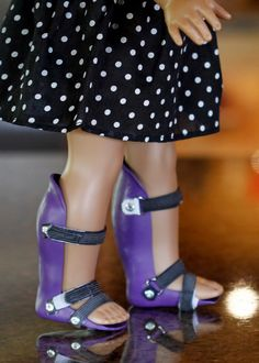 These AFO (Ankle-Foot Orthotic) braces are handcrafted from strong yet flexible plastic formed to fit the legs of an American Girl doll (or similar). The straps are elastic, with Velcro fasteners, and work almost identical to real AFO braces. Each AFO is hand crafted and customized to your requests, So each pair will be slightly different than the photograph. These are hand crafted items and will have imperfections (which I continually try to improve on). Please be patient as it can take…