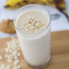A Peanut Butter Banana Breakfast Smoothie is a great way to start your morning! It's packed with protein, so it'll fill you up!