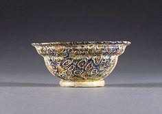 Bowl with an Offset Rim (Getty Villa Malibu)  Roman, 100 B.C. - A.D. 100   Glass   3 1/2 in.   78.AF.32