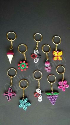 Quilled key chains