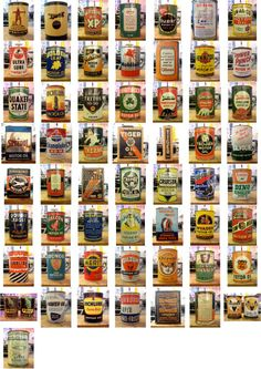 vintage oil can typography