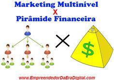 Diferenças entre Marketing Multinível e Pirâmide Financeira. Muitas pessoas não sabem como diferenciar um trabalho de marketing multinível com um sistema de pirâmide financeira, que é ilegal. http://empreendedordaeradigital.com/diferenca-entre-marketing-multinivel-e-piramide-financeira/