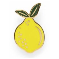 Lemon Enamel Pin ($11) ❤ liked on Polyvore featuring jewelry, brooches, lemon jewelry, enamel jewelry, pin jewelry, polish jewelry and enamel brooches