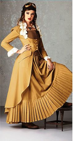 "You put Victorian fashion with the elements of the industrial revolution such as steam and create Steampunk. ""Steampunk is a sub-genre of scien… Steampunk Couture, Viktorianischer Steampunk, Steampunk Cosplay, Steampunk Clothing, Steampunk Fashion, Victorian Fashion, Gothic Fashion, Steampunk Dress, Steampunk Goggles"