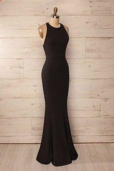 Trumpet/Mermaid Jewel Floor-length Chiffon Prom Dress