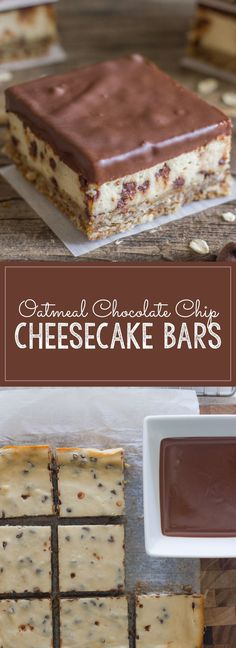These Oatmeal Chocolate Chip Cheesecake Bars are for when you want a dessert that does NOT mess around!