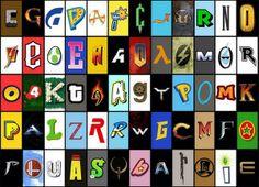 Computer Game Alphabet via @tomjohn001