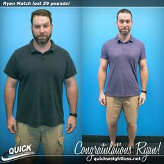 """Congratulations to Ryan Match from Boynton Beach, Florida for losing 59 pounds on the Quick Weight Loss Centers program!   """"I was surprised that on the Quick Weight Loss plan, the food prep and diet were very easy to follow. Now that I have reached my goal, I have much more energy so everything is easier and more fun. I want to tell others not to get discouraged. Stay focused! You are awesome!"""" -Ryan.   Read his Quick Weight Loss success story…"""