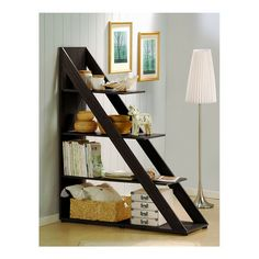 Ladder Bookcase, I totally love this idea for a room divider, it looks like it would be super simple to make!
