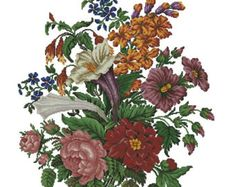 Poppies wreath vintage cross stitch pattern for by Smilylana