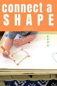 A fun fine motor way to make shapes. Connect the dots to make a shape. Great indoor play for preschoolers at home. Writing Activities For Preschoolers, Toddler Fine Motor Activities, Preschool Activities At Home, Motor Skills Activities, Preschool Learning Activities, Fun Learning, Shapes For Preschool, Fine Motor Activity, Games For Preschoolers Indoor